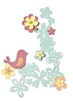 Sizzix Thinlits Die Set 6Teile - Floral Love