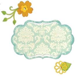 "Sizzix Thinlits Die, ""Fancy Label & Flowers"""