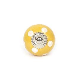 Möbelgriff A83, Punkte gelb/weiss