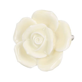 Möbelknopf Rose hellgelb 61865
