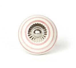 Möbelgriff A39, Streifen weiss/rosa