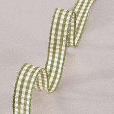 Dekoband Vichy Karo grün