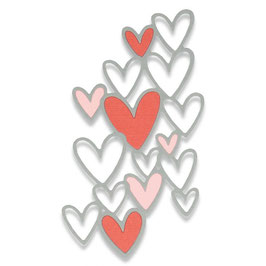 "Sizzix Thinlits Die ""Scattered Hearts"""