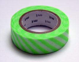 """Masking Tape """"grasgrün, quergestreift"""""""