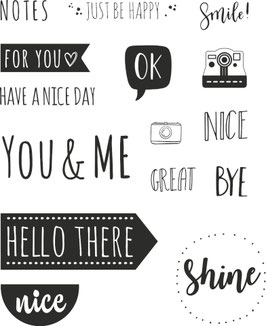 "Clearstamps ""Hello There"""
