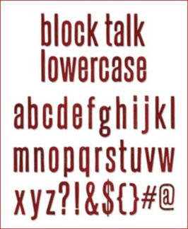 Stanzschablone Sizzix Bigz XL Alphabet Die - Block Talk Lowercase