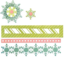 "Sizzix Thinlits Die, ""Winter Borders & Rosette"""