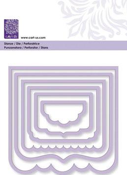"""Stanzschablonen """"Label-Rahmen"""", Cart-Us"""