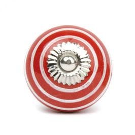 Möbelgriff A140, Streifen rot/weiss