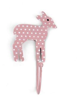 Haken, Bambi, Punkte rosa/weiss, Q01