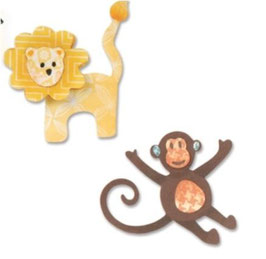"Sizzix Thinlits Die, ""Lion & Monkey """