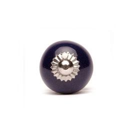 Möbelknopf A69a, klein, rund, dunkelblau