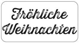 """Holzstempel """"Fröhliche Weihnachten"""""""