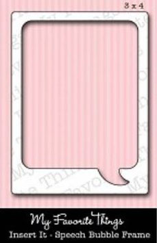 "Sizzix Stanzschablone Die-namics ""Insert It - Speech Bubble Frame"" (MFT-329)"