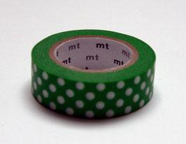 "Masking Tape ""Punkte grün-weiss"""