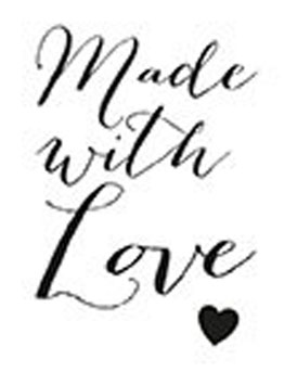 """Holzstempel """"Made with love"""""""