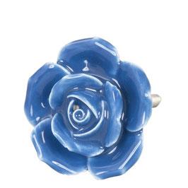 Möbelknopf Rose blau 61864