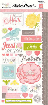 "Stickerbogen ""Dearest Mom"""