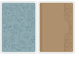 """Sizzix Textured Impressions Embossing Folders, """"Flowers & Frame Set"""""""