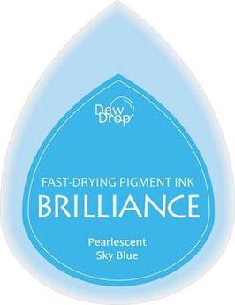 Pigmentstempelkissen Tropfen Brilliance, klein, Himmelblau Perlenschimmer