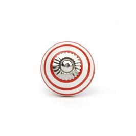 Möbelgriff A82, Streifen weiss/rot