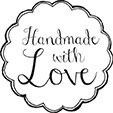 "Holzstempel ""Handmade with love"""