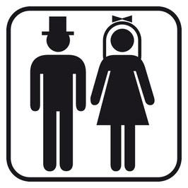 Holzstempel Brautpaar