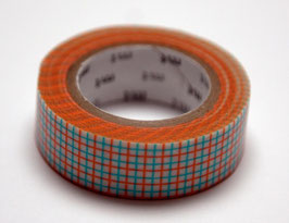 "Masking Tape ""Gitter orange-blau"""
