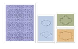 "Sizzix Textured Impressions Embossing Folders, ""Jar Labels Set """