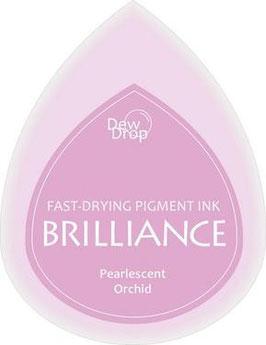 Pigmentstempelkissen Tropfen Brilliance, klein, Orchidee Perlenschimmer, rosa