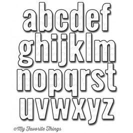 """Stanzschablone Kleinbuchstaben """"Little Letters"""" für Sizzix Big Shot und Cuttlebug"""