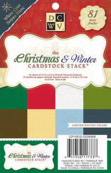 Cardstock-Block Weihnachten und Winter