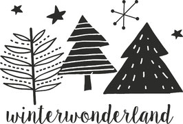 "Holzstempel ""Winterwonderland"""
