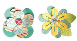 Sizzix Thinlits Die Set 7Teile - Simple Flowers #2