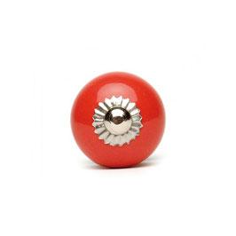 Möbelknopf A89a, klein, rund, rot