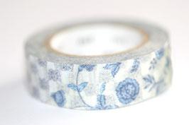 "Masking Tape ""blaue Blümchen"""