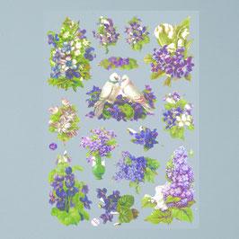 """Poesiebilder """"violette Blumen"""""""