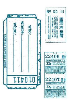"""Silikonstempel """"Tickets"""""""