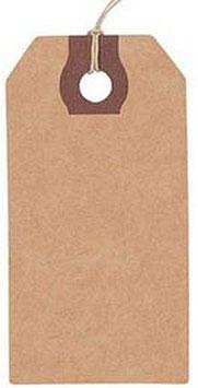 Geschenkanhänger Kraftpapier 1