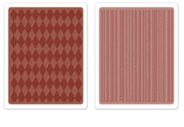 "Sizzix Textured Impressions Embossing Folders, ""Harlequin & Stripes Set"""