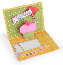 Sizzix Thinlits Die Set 16Teile - Card, Birthday Pop-Up
