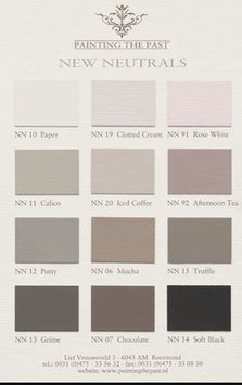 "Shabby Chic Farbe Painting the Past, Farbkarte ""New Neutrals"""