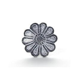 Möbelgriff V15, Grosse Blüte grau