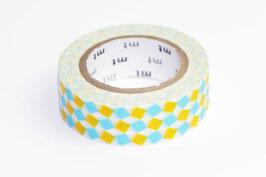 """Masking Tape """"Quadrino hellblau-gelb"""""""