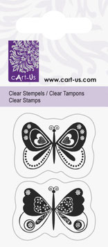 "Clearstempel "" Fantasie Schmetterling"""