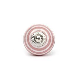 Möbelgriff A40, Streifen rosa/weiss