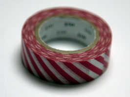 "Masking Tape ""rot, quergestreift"""