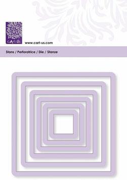 """Stanzschablonen """"Rahmen quadrat"""", Cart-Us"""
