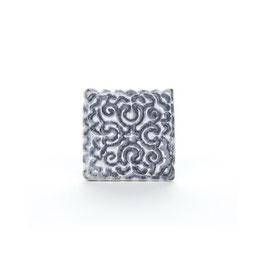 Möbelgriff V08, Orientalisch Quadratisch grau