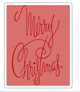 Sizzix Texture Fades Embossing Folder - Fancy Christmas
